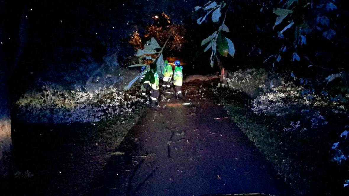 Následky řádění bouře na jižní Moravě