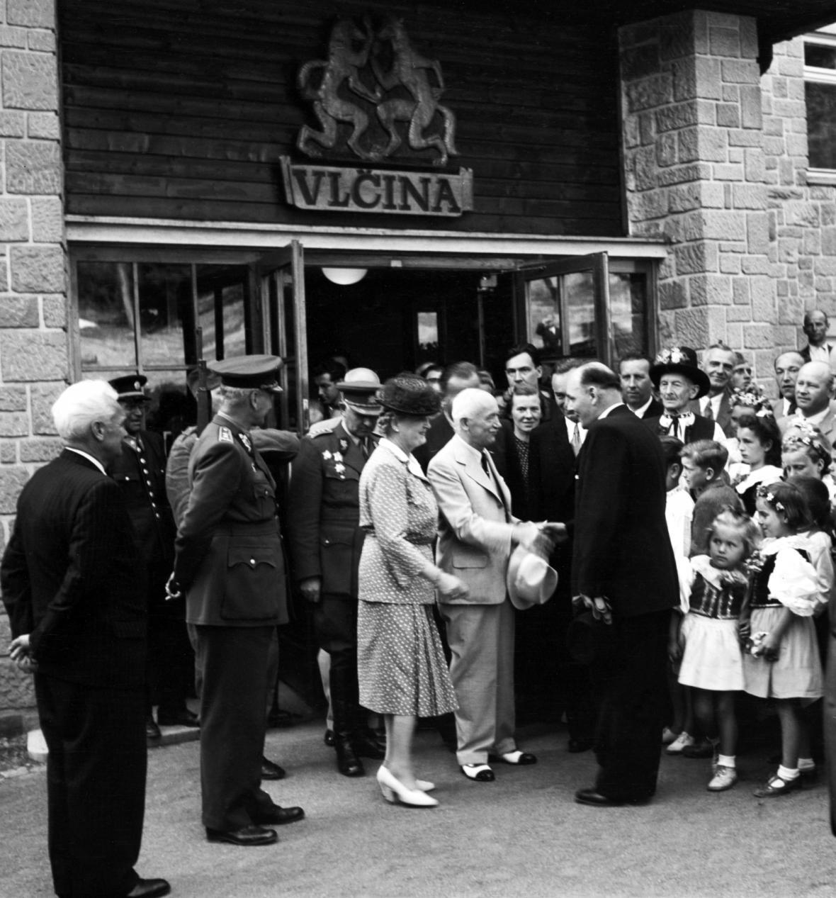 Hotel Vlčina v roce 1946