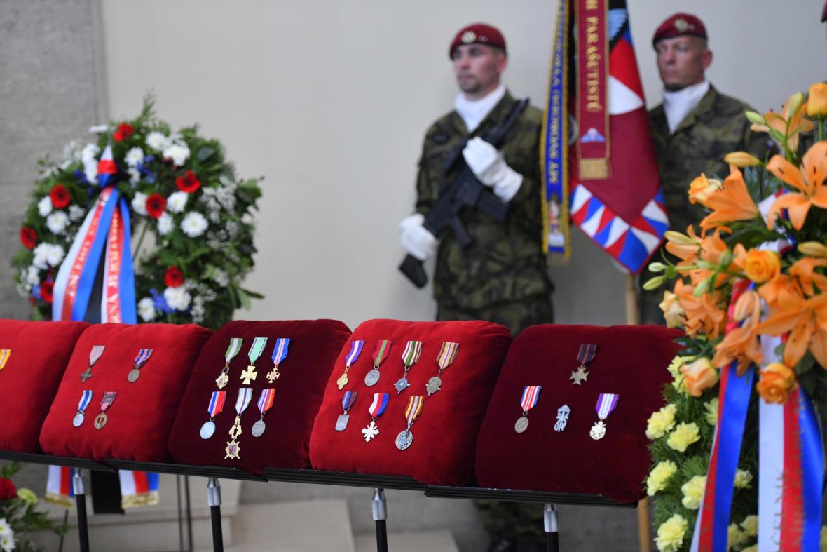 Vystavené vojenské řády a vyznamenání Jaroslava Klemeše
