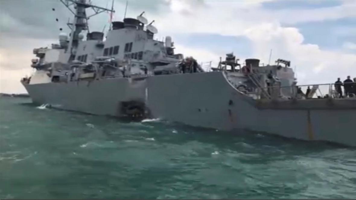 Poškozený torpédoborec