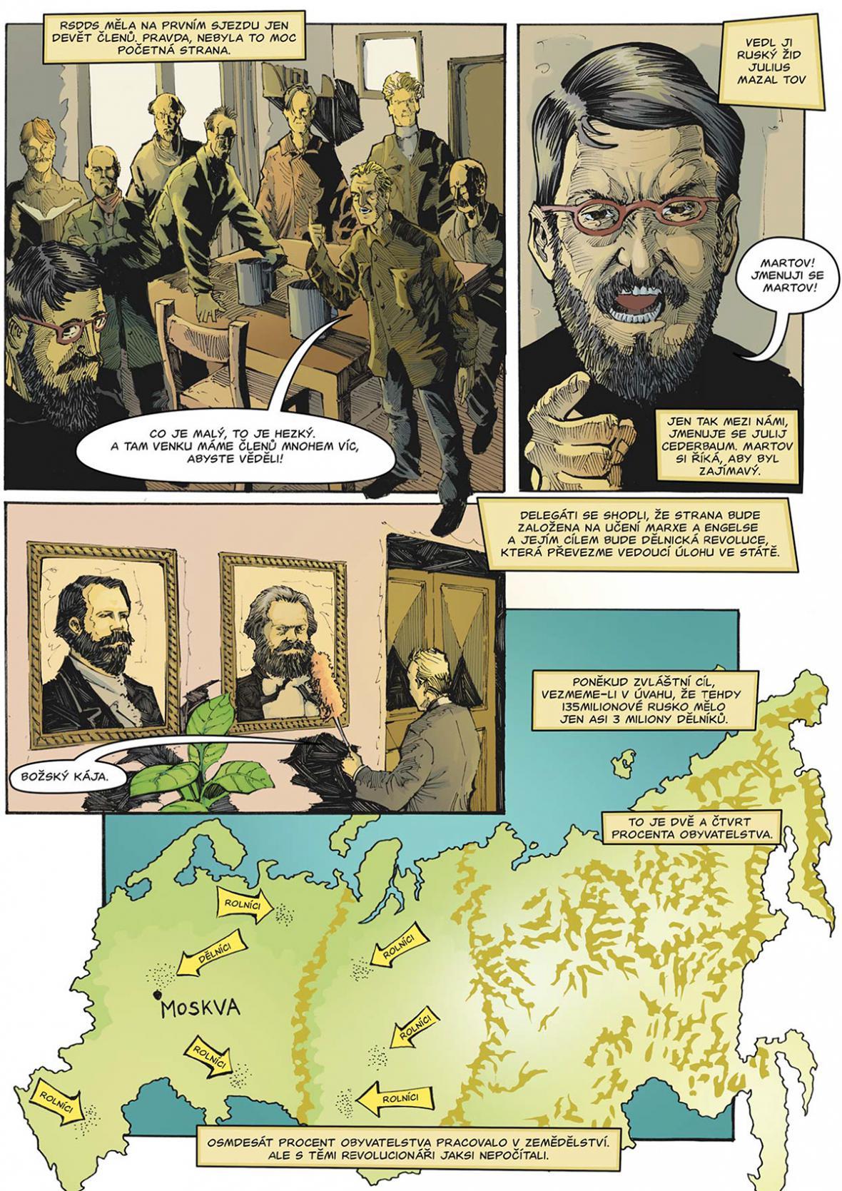 Komiks z Kroniky bolševismu