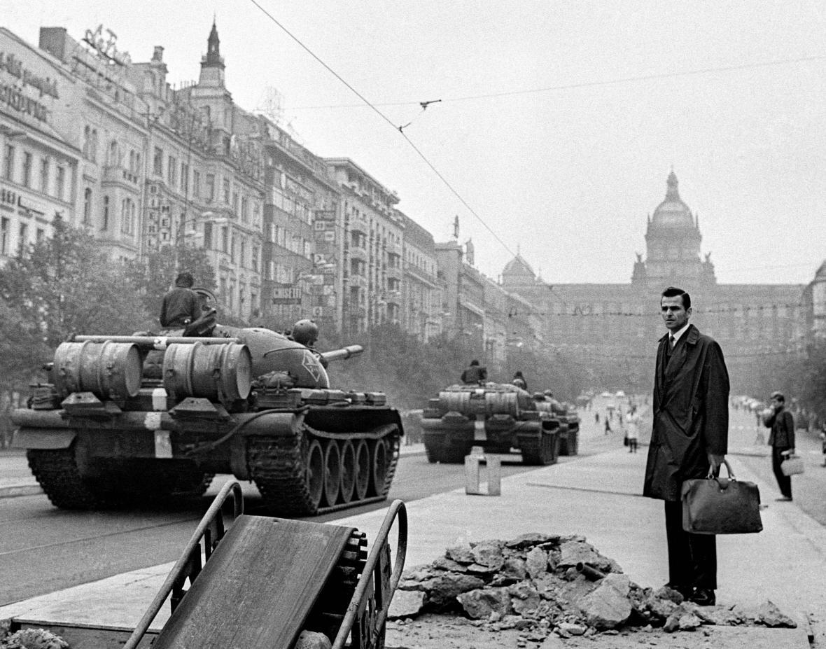 Fotografie z expozice Muzea komunismu - Srpen 1968
