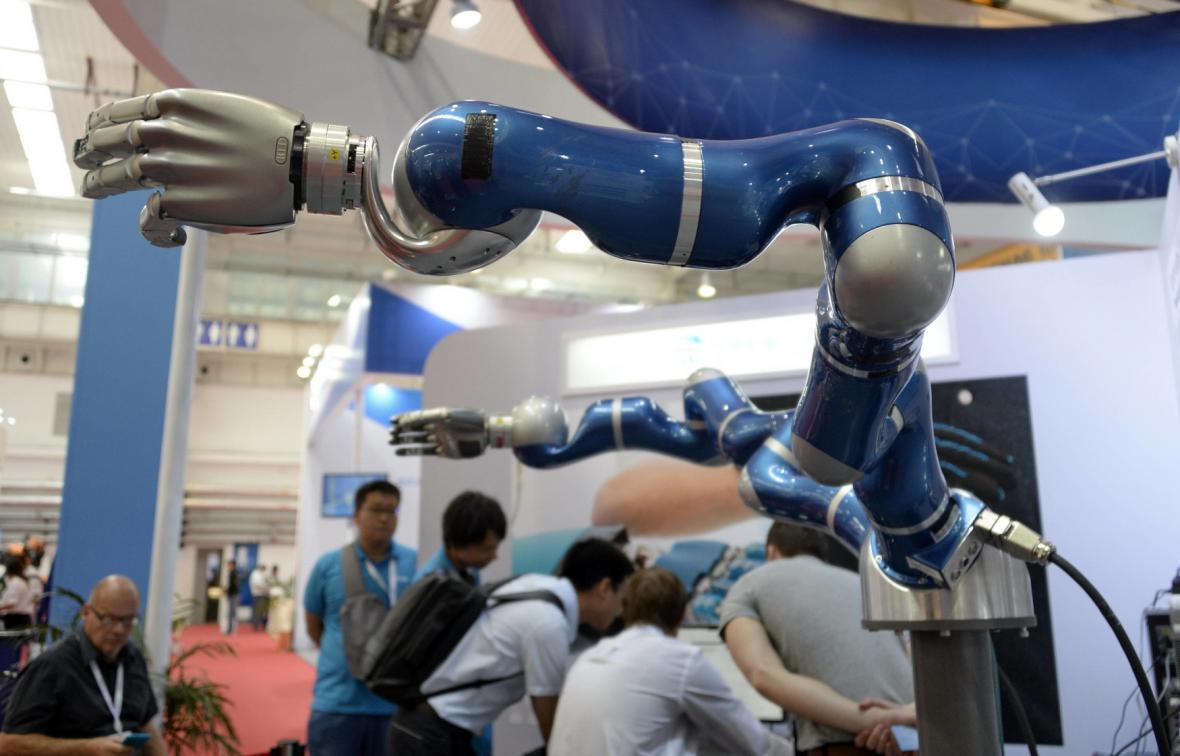 Výstava robotů v Číně