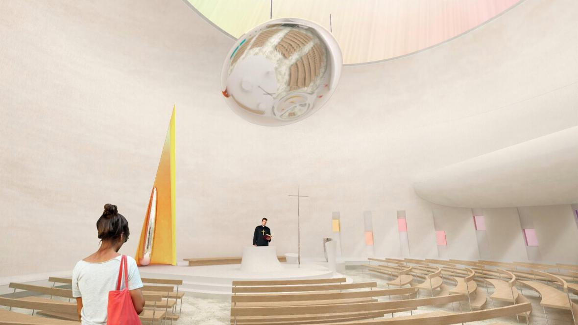 Vizualizace podoby nového kostela