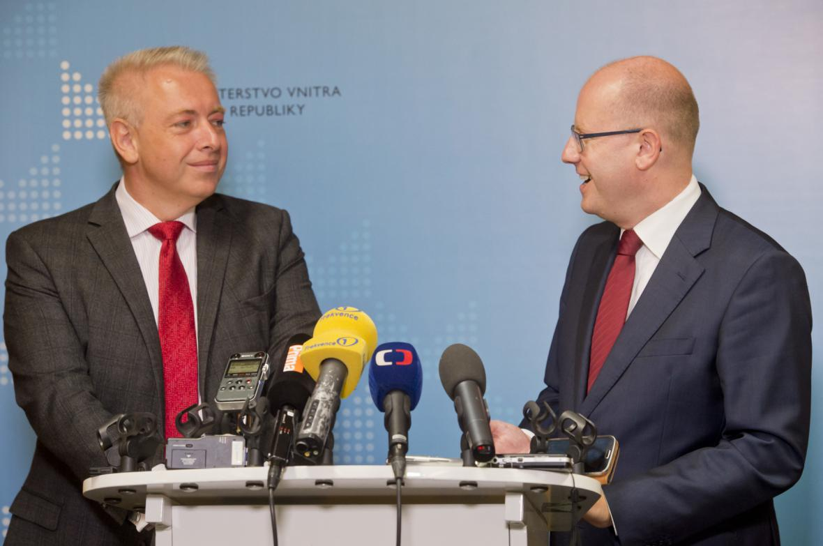 Bilanční schůzka premiéra Sobotky s Milanem Chovancem