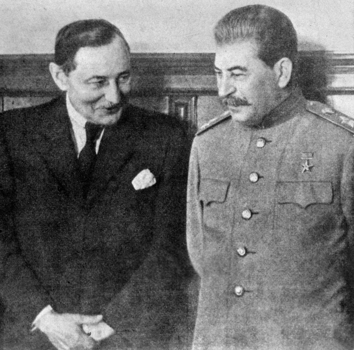 Zdeněk Fierlinger a J. V. Stalin