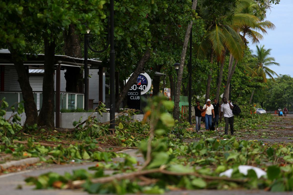Následky Irmy na pobřeží Portorika