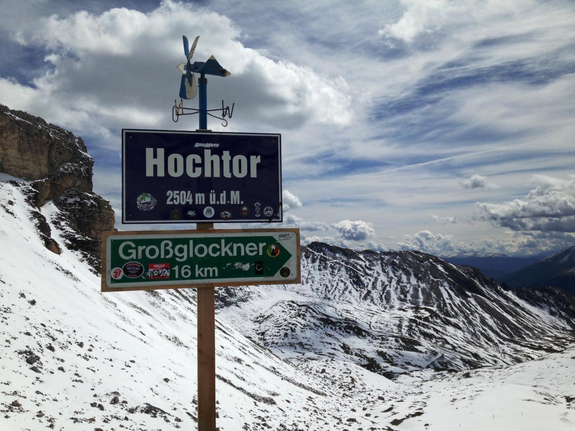 Nejvyšší místo průsmyku Hochtor