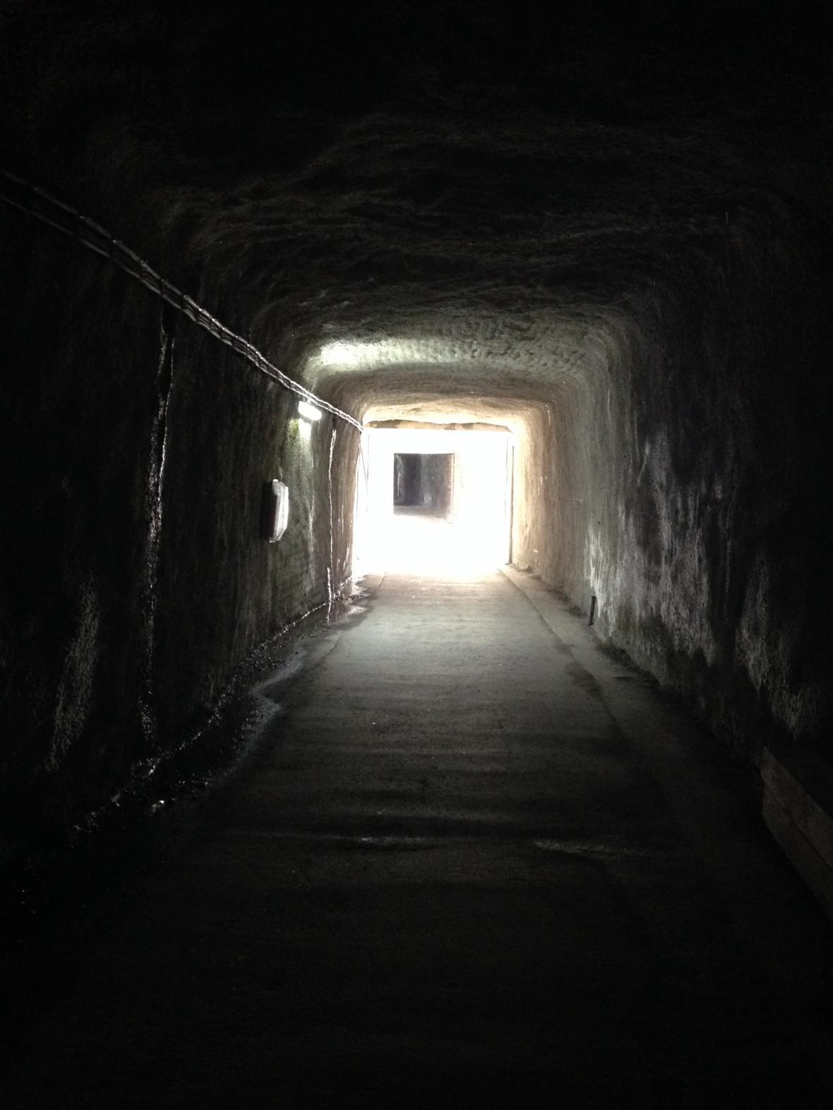 Tunely cestou k ledovci Pasterze