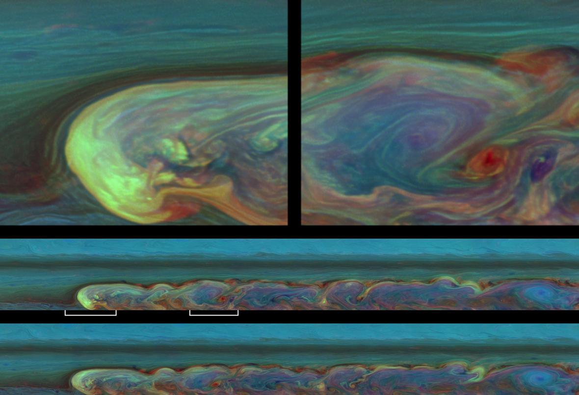 Vývoj buře na Saturnu