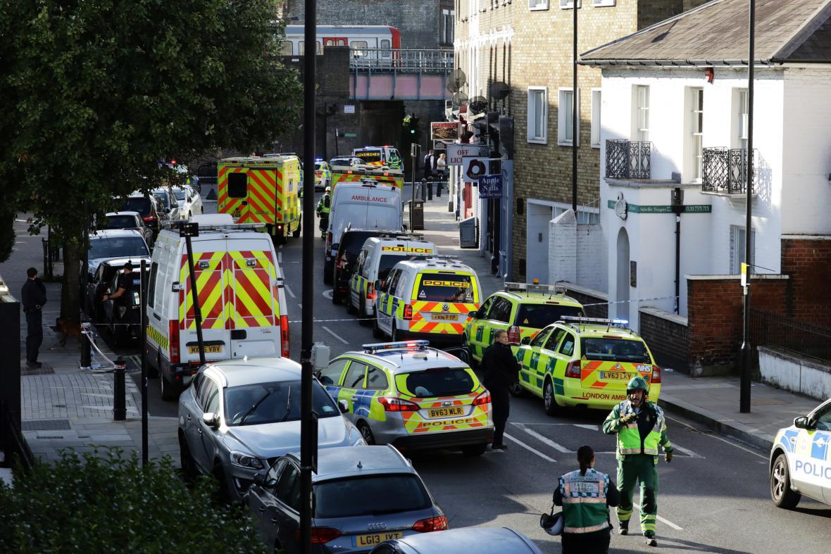 Policie v okolí stanice Parsons Green