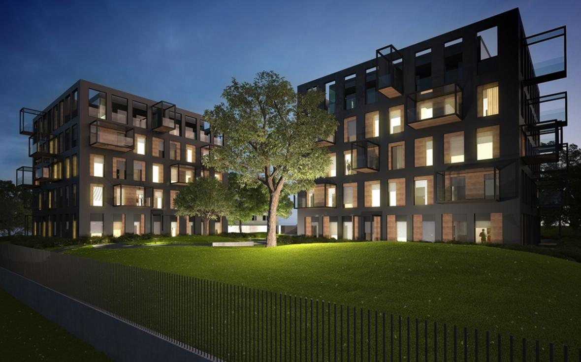 Plánovaný komplex bytových domů
