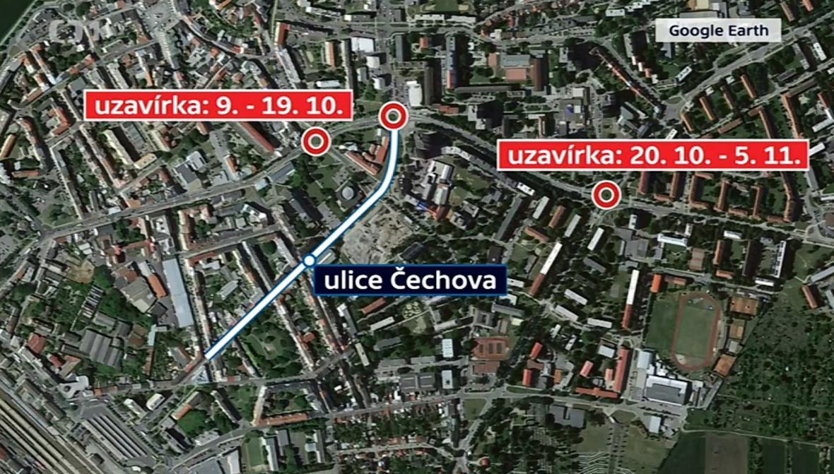 Dopravní omezení v Přerově