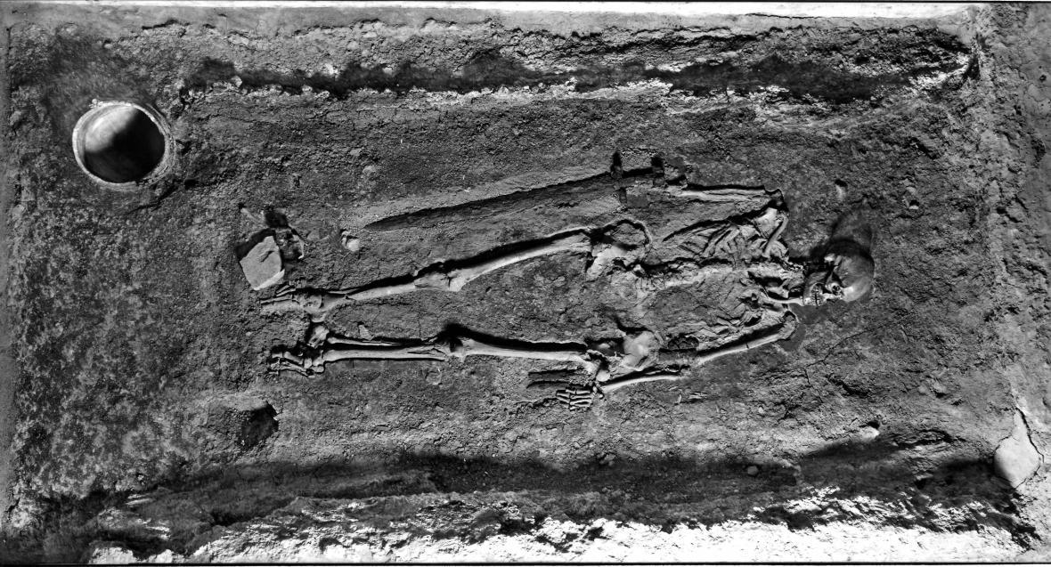 Vikinský bojovník pohřbený na Pražském hradě