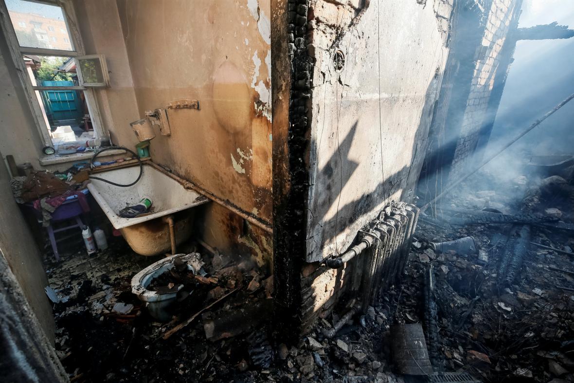 Výbuch muničního skladu u ukrajinské Kalynivky