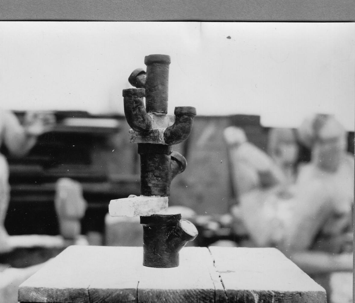 Nerealizovaný návrh prolézačky pro dětské hřiště ve Stromovce (1961)