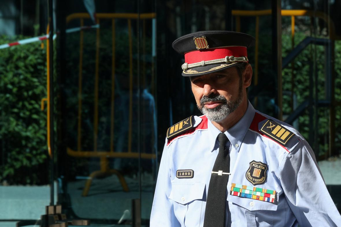 Šéf katalánské policie Trapero odchází od soudu