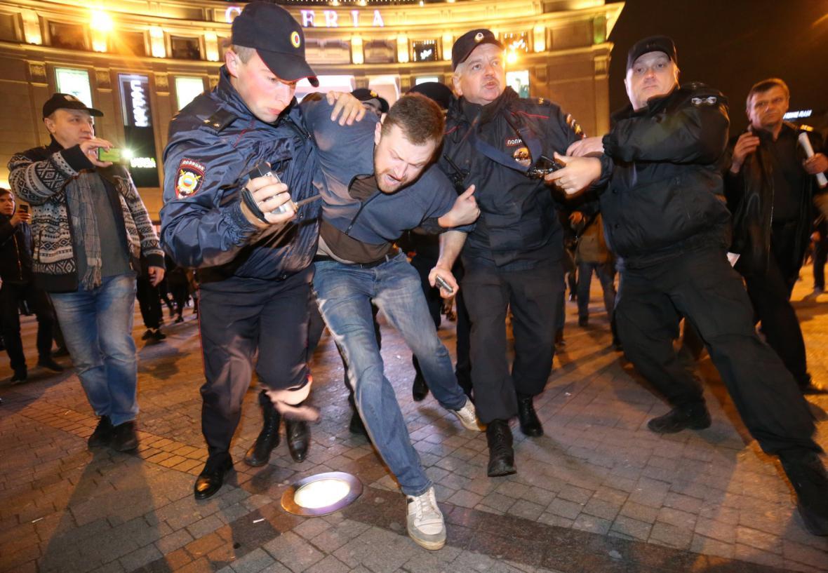 Demonstrace v Petrohradu