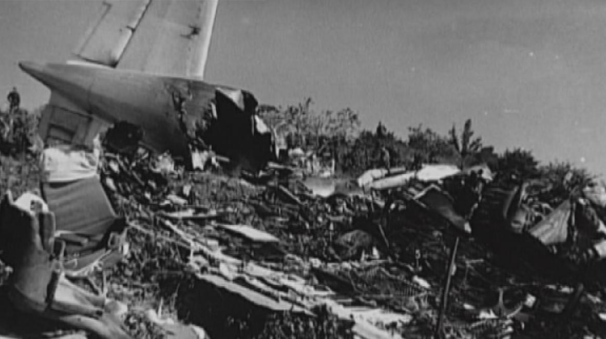 Trosky havarovaného letadla