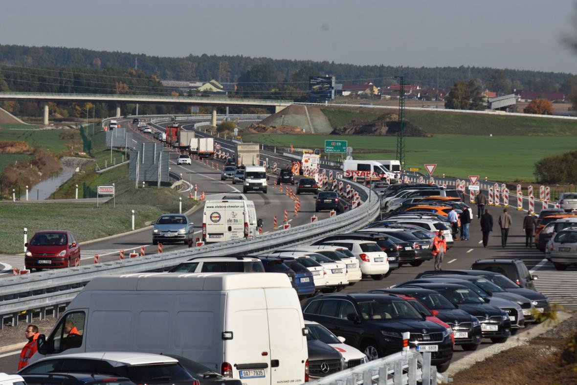 Slavnostní otevření dálnice