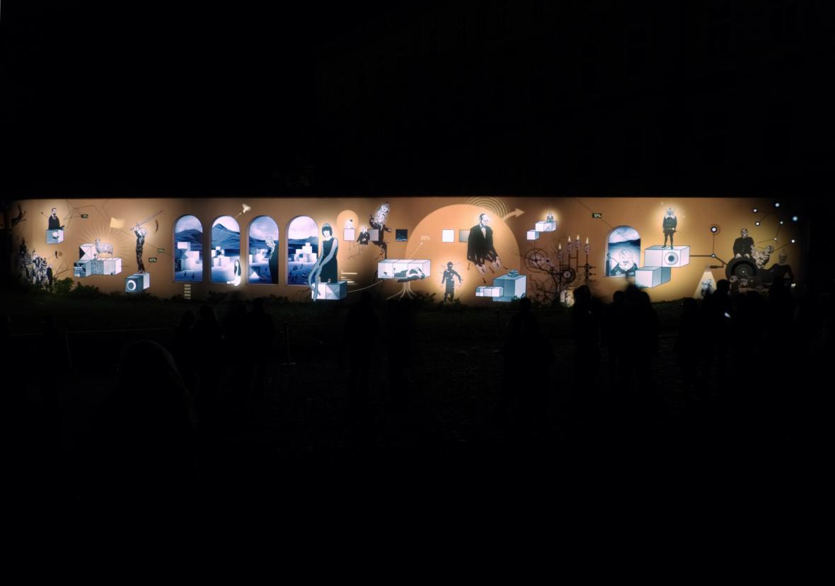Festival Signal 2017: Mecaniques Discursives (Cihelná ulice)