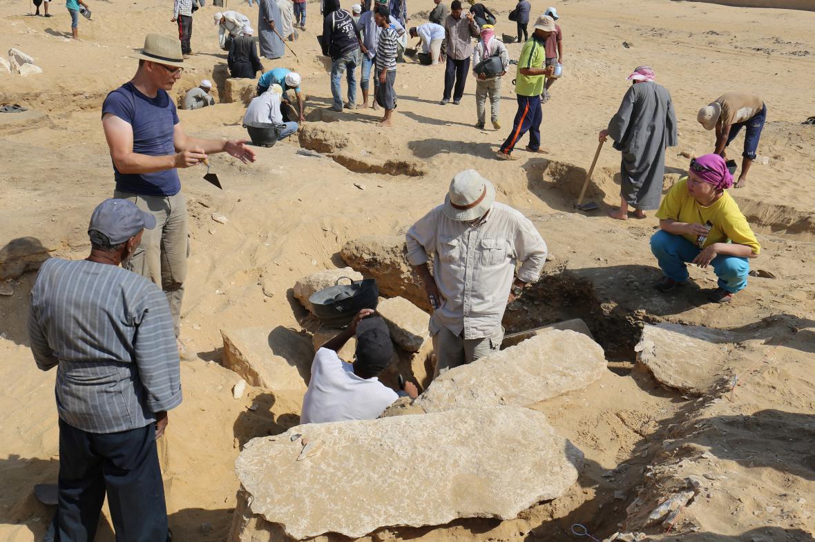 Nově objevený chrám v Egyptě