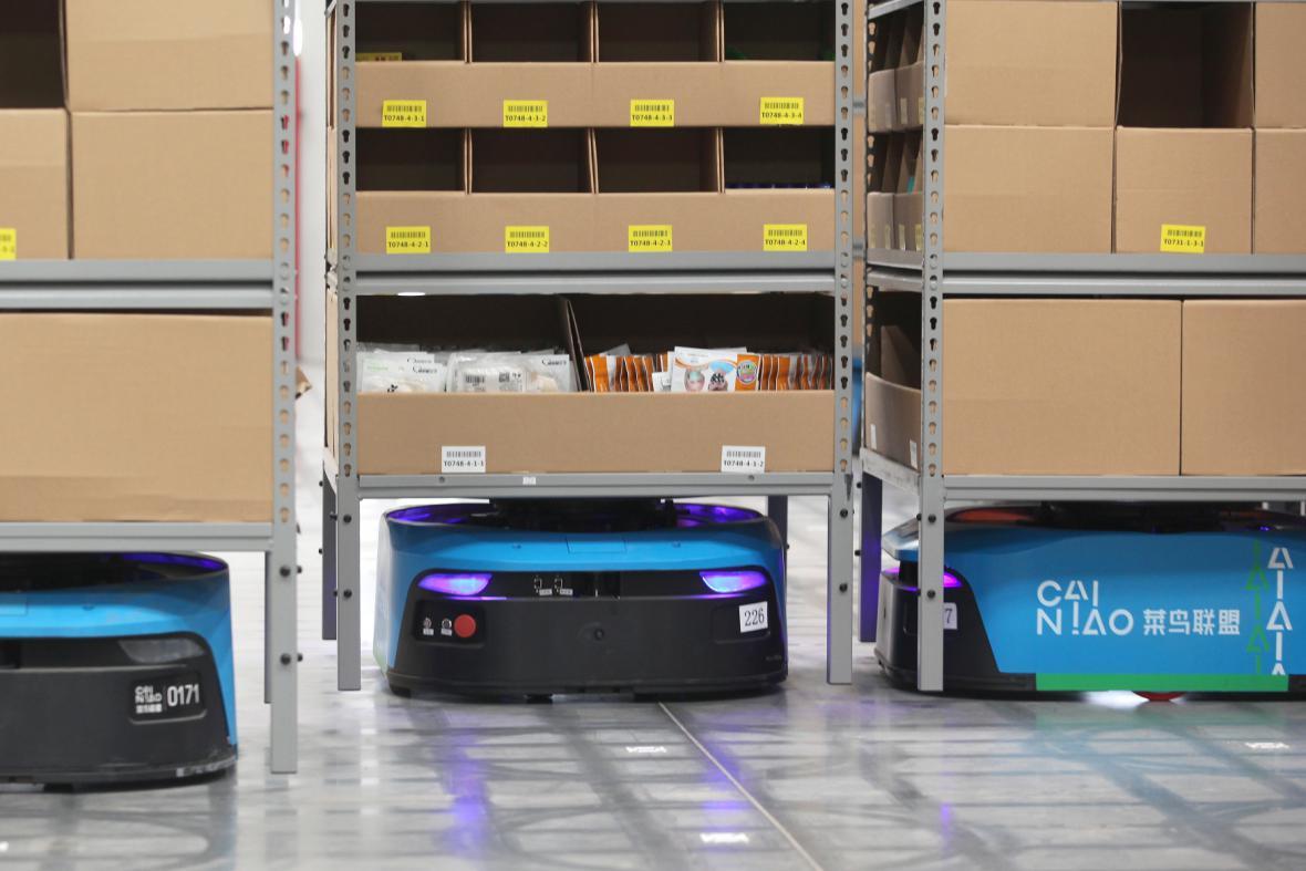 Zcela robotizované skladiště společnosti Alibababa