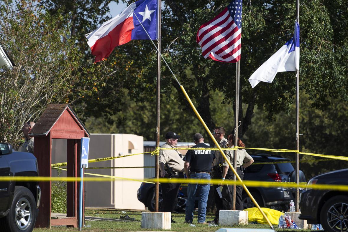 Místo střelby v Texasu