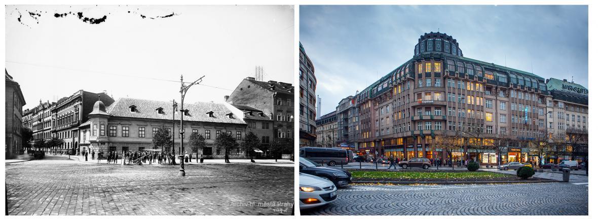 Praha před sto lety a dnes