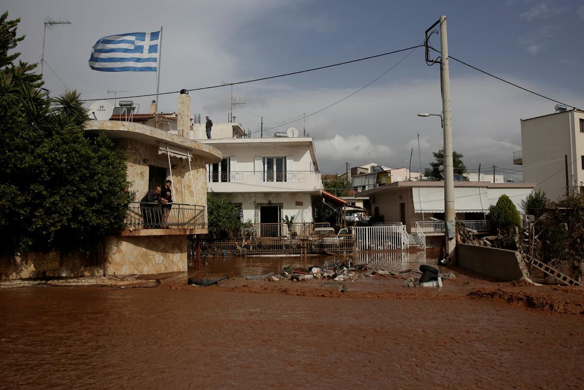 Řecko zasáhly prudké lijáky