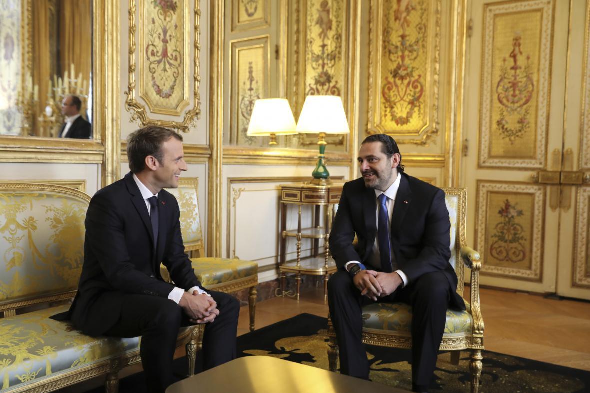 Libanonský premiér Harírí v Paříži s prezidentem Macronem