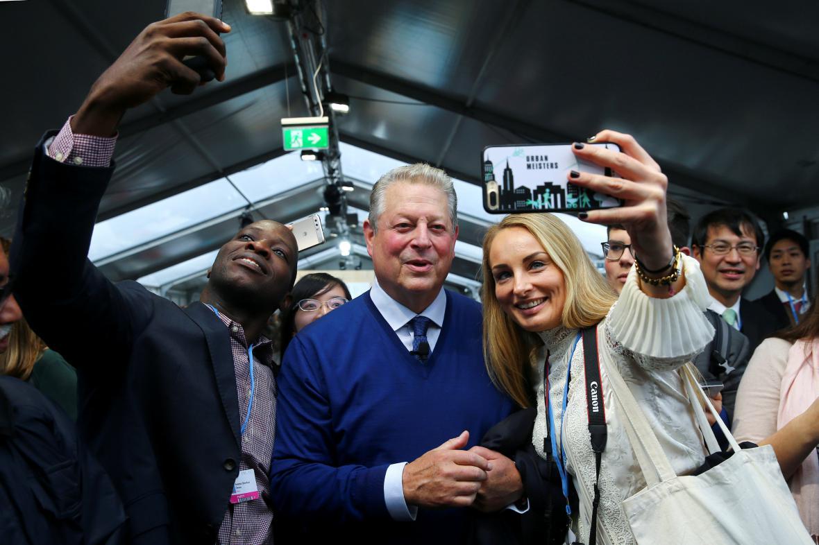Na summit zavítal i Al Gore, bývalý viceprezident Spojených států