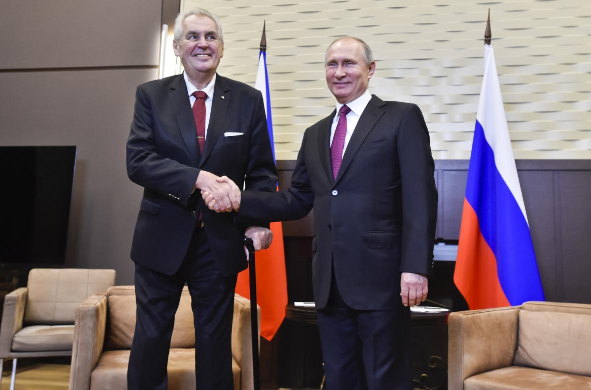 Zeman s Putinem v Soči
