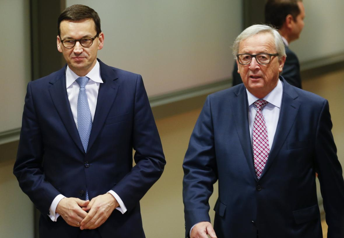 Morawiecki a Juncker