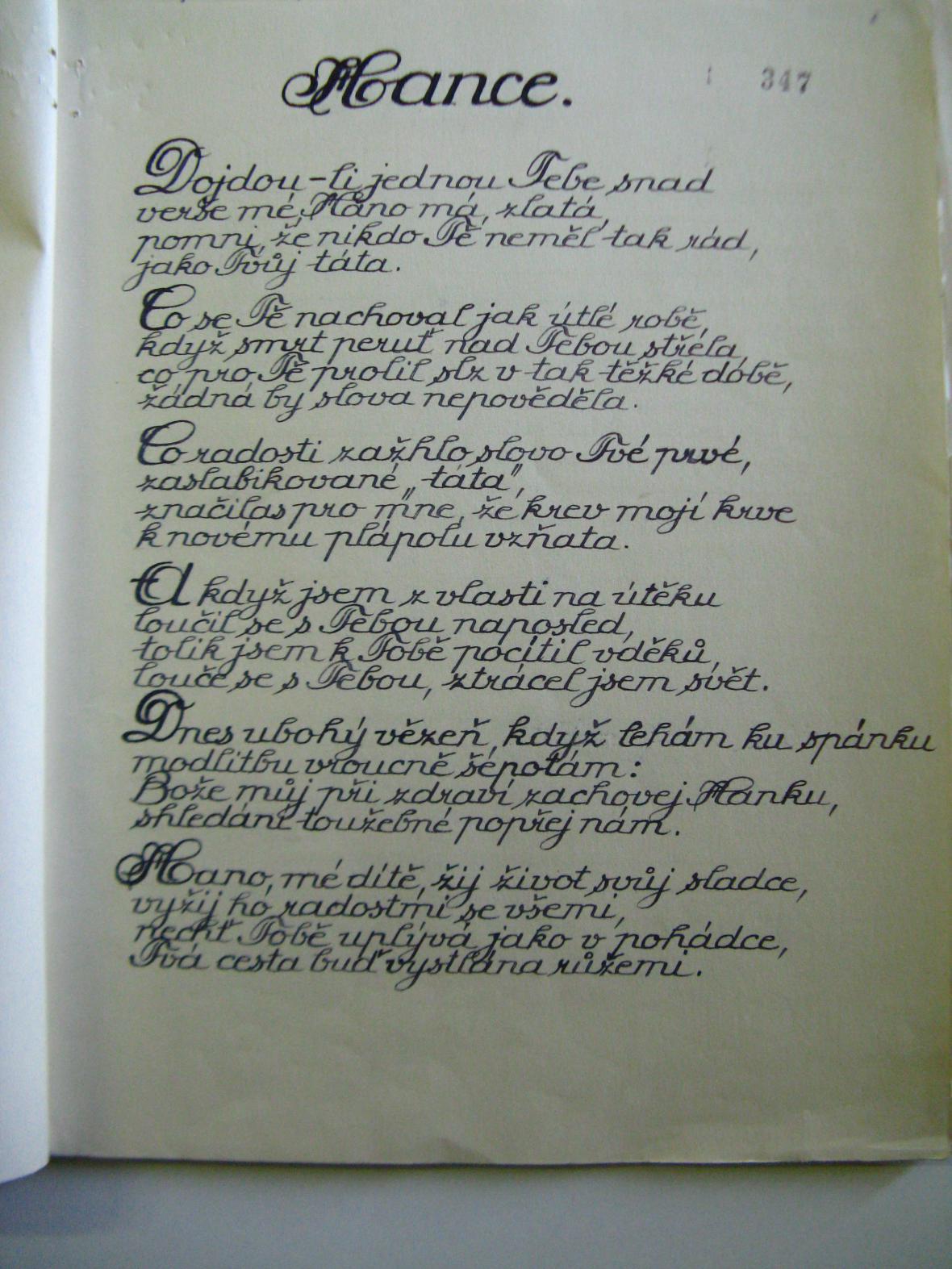 Zabavené básně Františka Poláka nalezené více než 70 let po jejich napsání ve Vojenském historickém archivu