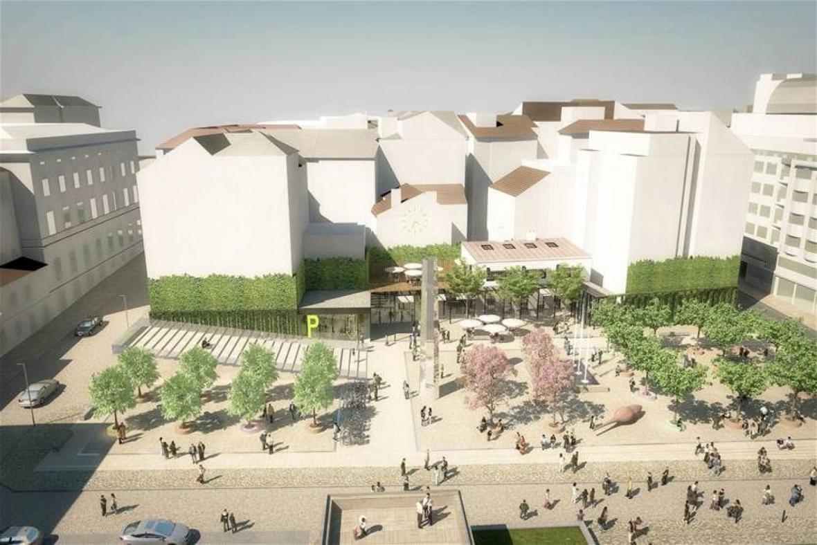 Stavba nového koncertního sálu v Brně a vizualizace jeho budoucí podoby