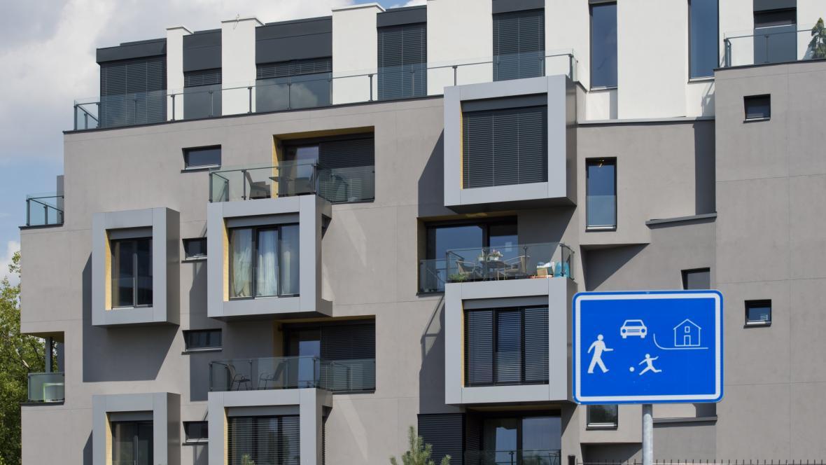 Dokončená část rezidenčního komplexu DOCK v pražské Libni