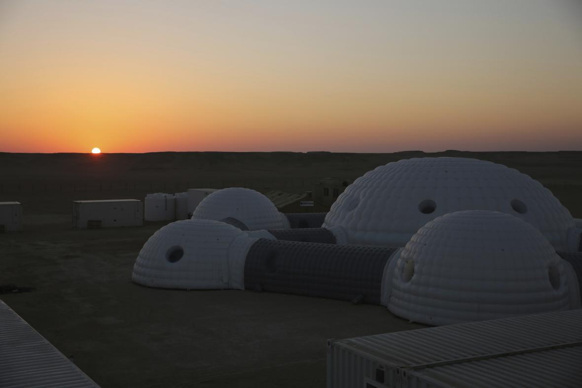 Simulace Marsu v Ománu