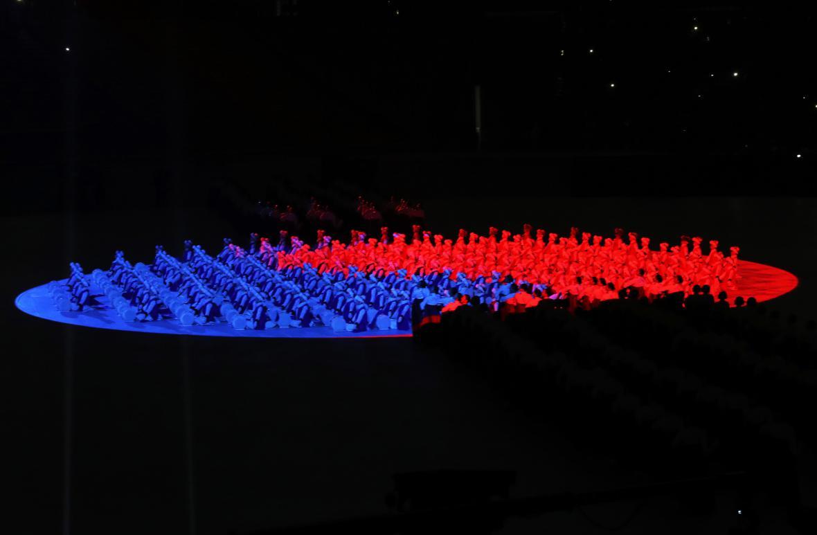 Zahajovací ceremoniál zimní olympiády v Pchjongčchangu
