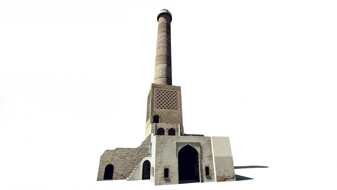 Rekonstrukce minaretu v Mosulu