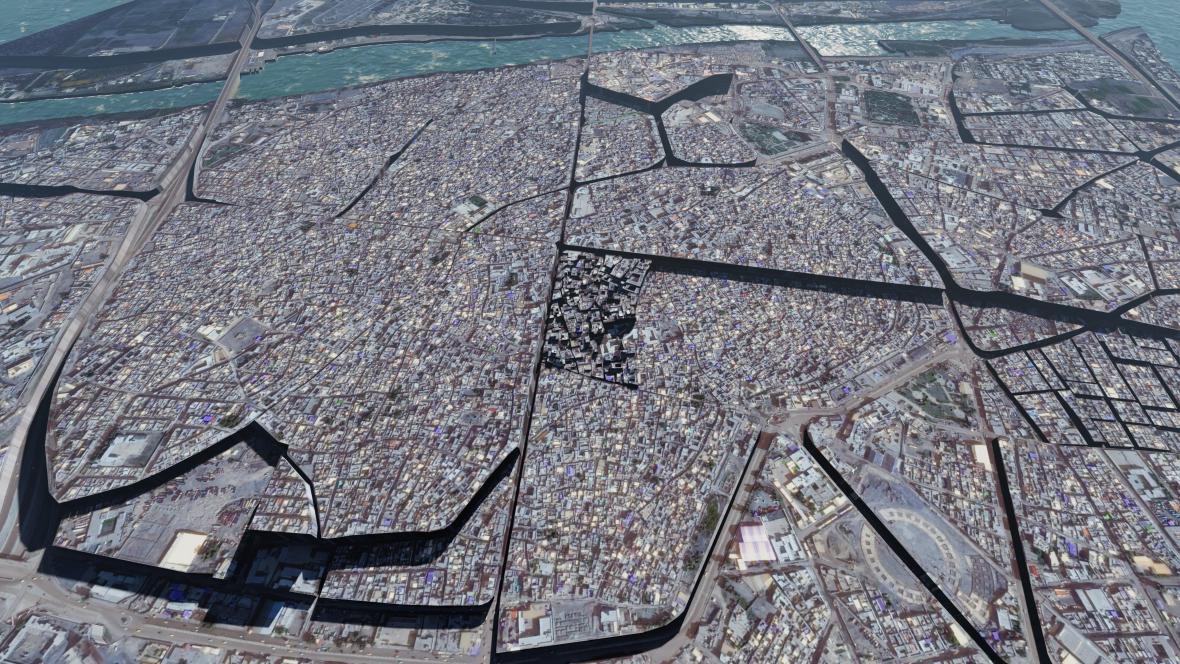 3D rekonstrukce Mosulu