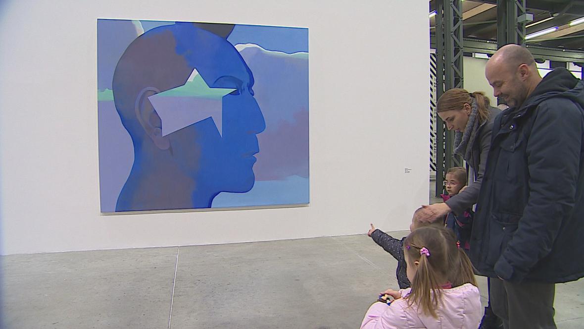 Obrazy Jana Merty v brněnské Fait Gallery