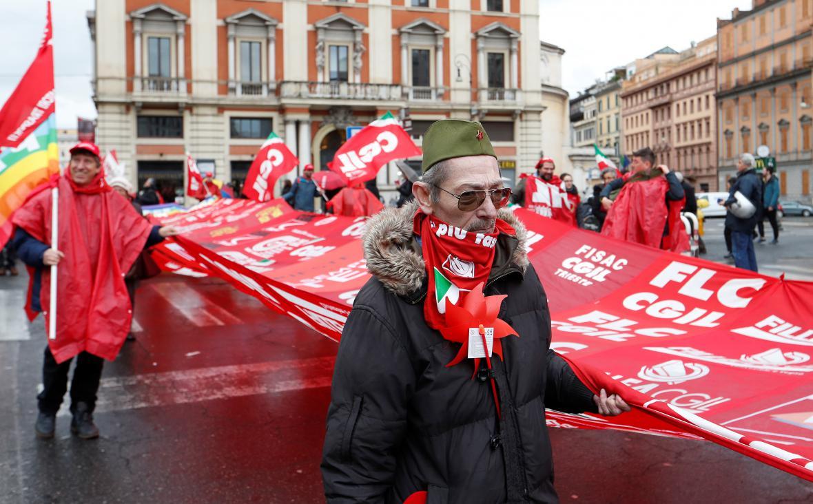 Demonstrace proti rasismu v Římě