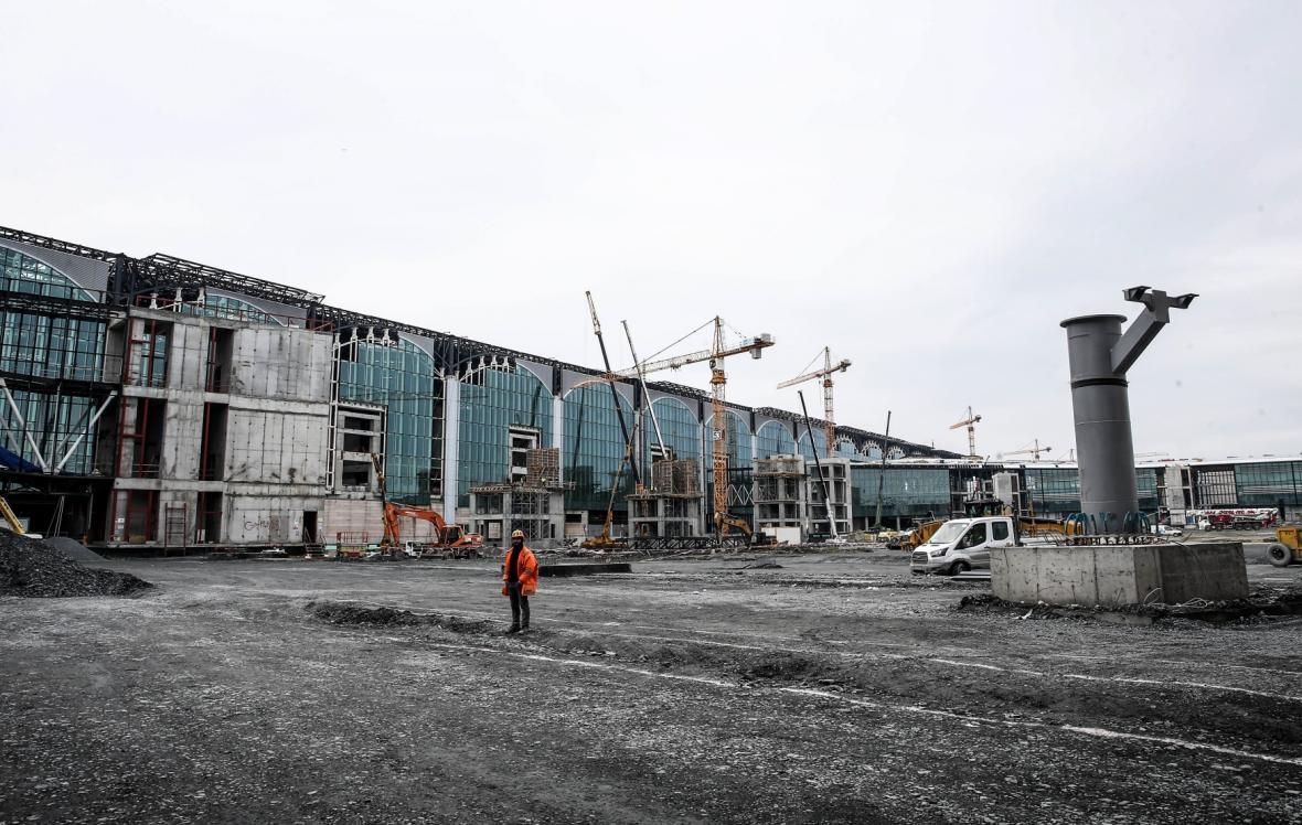 Jak vzniká třetí istanbulské letiště (únor 2018)
