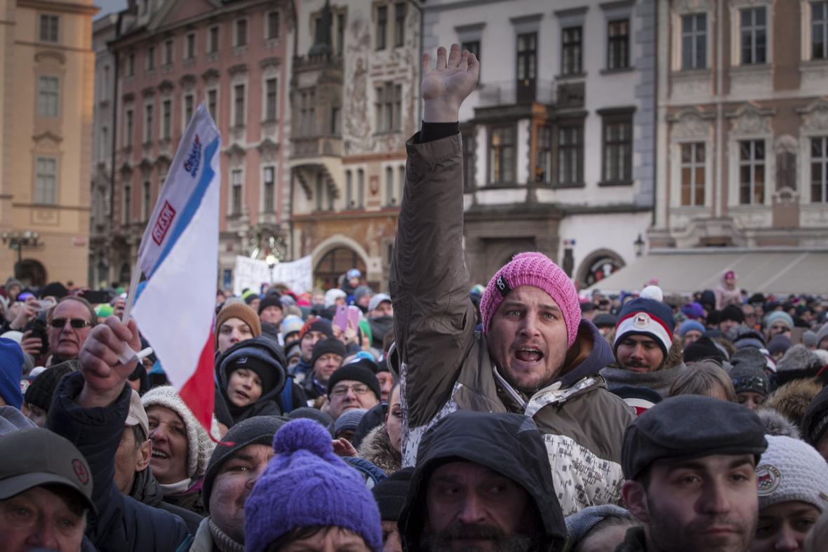 Na Staroměstském náměstí vládla povznesená nálada