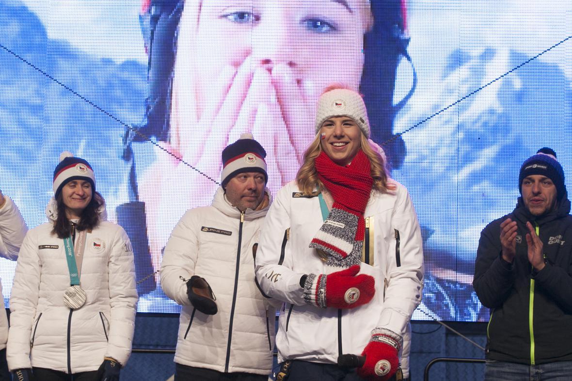 Radost z medailí neskrývala ani jedna ze sportovkyň