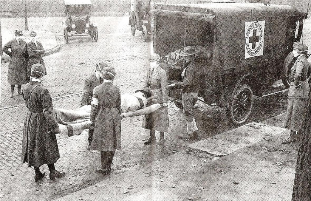 Zásadní roli v boji proti chřipce hrál Červený kříž