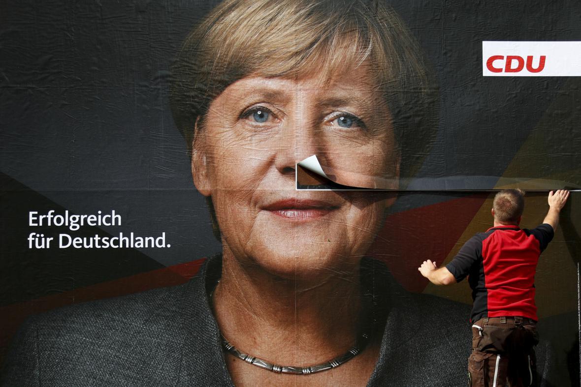 Angela Merkelová po vítězství v podzimních volbách do Bundestagu