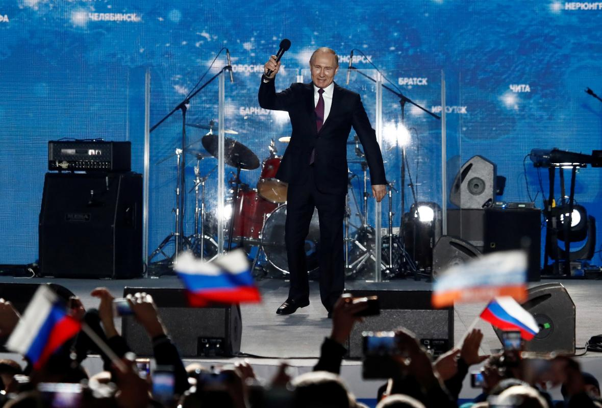 Putin na návštěvě Krymu