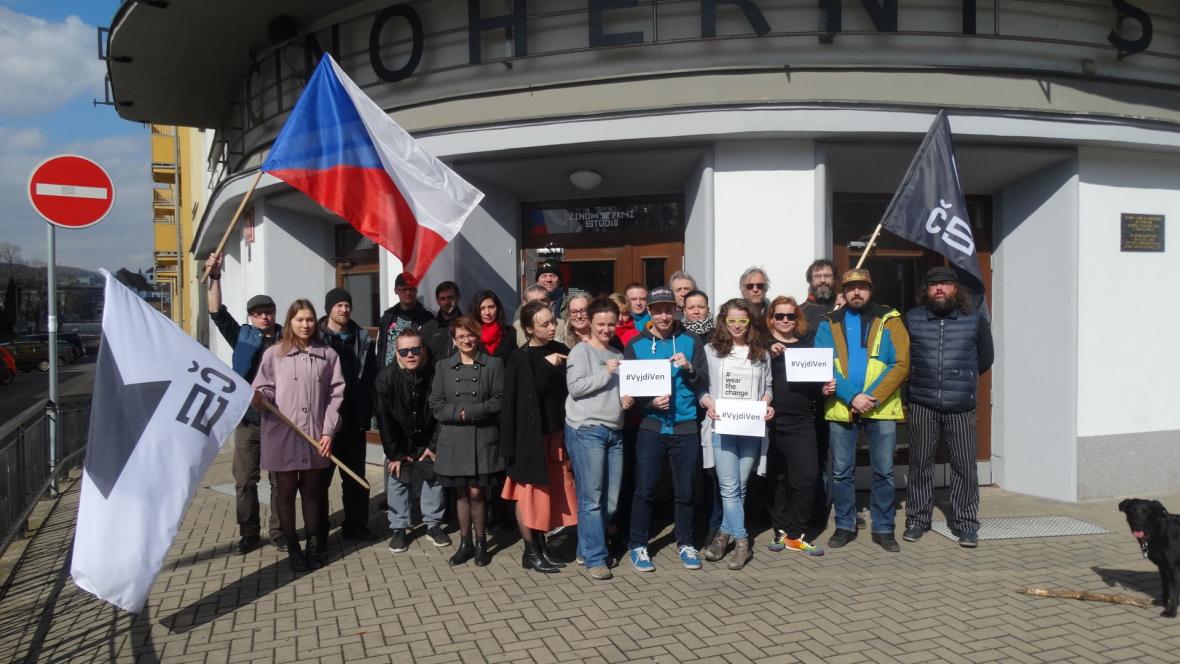Podporu poslalo i Činoherní studio v Ústí nad Labem